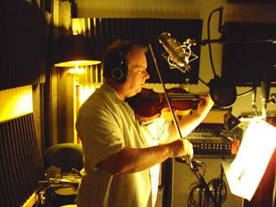 Charley Austin adding fills and double stops to David Arn's CD Walking to Dreamland